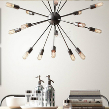 18 head Loft Style Sputnik Chandelier American Warehouse Light Dining Room Lights With Eedison Bulbs Free Shipping(China (Mainland))