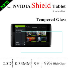 8.0 inch 9H 0.33mm High Clear Shield Tablet Glass Screen Protector For NVIDIA Shield Tablet tempered glass screen Protector