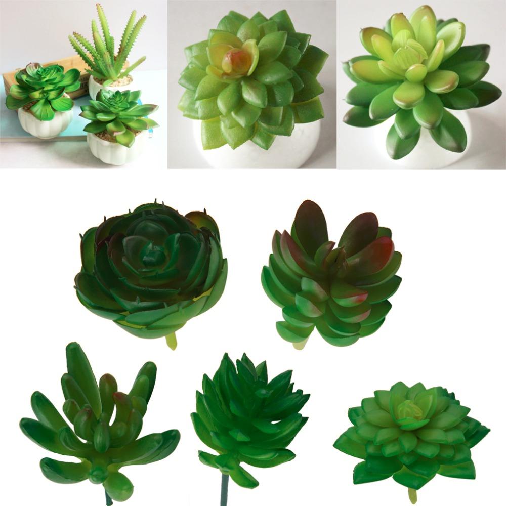 Artificial Mini Plastic Miniature Succulents Plants Art Garden Home Decor worldwide store(China (Mainland))