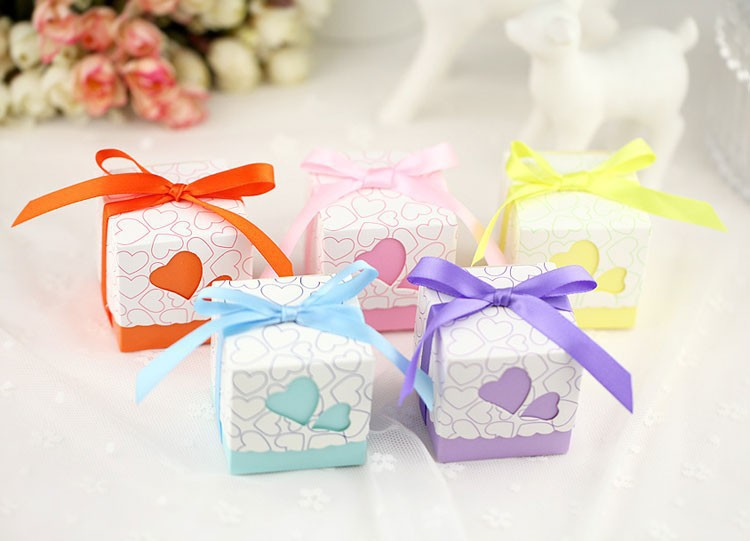 20pcs/lot Square Wedding Favor Boxes Wedding Candy Box Casamento Wedding Favors And Gifts(China (Mainland))