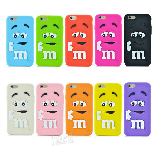Fashion Cartoon M&M'S Chocolate Rainbow Beans soft cover silicon material phone case iphone 6 LC1428 - LOVECOM Store store