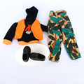 Clothes set Shoes Handmade Colorized Winter Wear Hoody Waistcoat Pants Man Outfit Accessories For 1 6