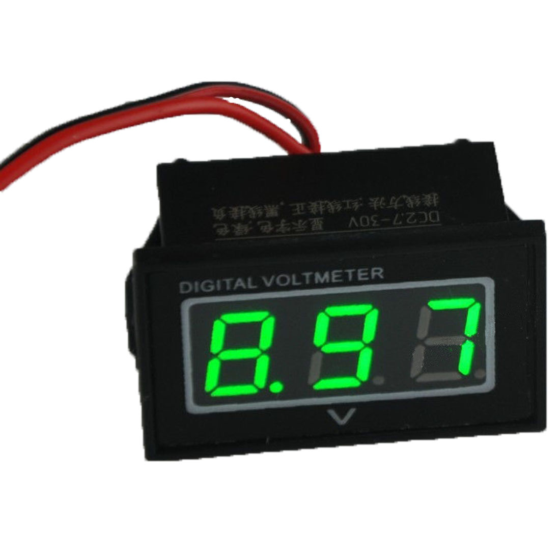 2016 Tester Car Voltmeter New Green Led Waterproof Monitor 12 Volt Battery Meter 2.7-30v For Dc Auto Gauge Digital Voltmeter(China (Mainland))