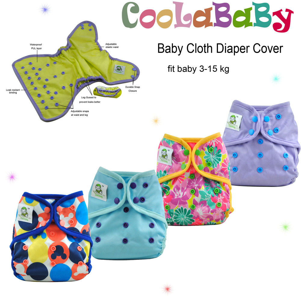 NEW Coolababy One size Baby Cloth Diaper Cover Reusable Adjustable Waterproof Nappy Cover free shipping <br><br>Aliexpress
