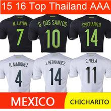 Top Thai AAA+ Quality MEXICO Jersey 2015 CHICHARITO Mexico Soccer Jersey 15/16 Mexico football soccer shirts Free Shipping(China (Mainland))