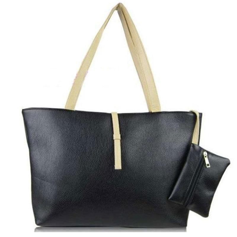 Free shipping 2015 women commuter belt buckle big bag wild colorful shoulder bag fashion shopping handbag