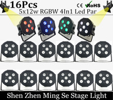 Buy 16pcs/lots 12w led lamp beads 5x12W led Par lights RGBW 4in1 flat par led dmx512 disco lights professional stage dj equipment for $353.28 in AliExpress store