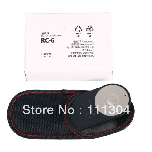WHOLESALE RC-6 IR Wireless Camera Remote Control For Canon 7600D 5D II/7D/550D/500D, + Drop Shipping