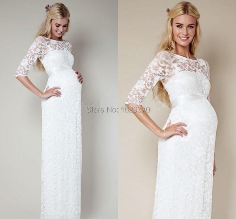 Белые платья для беременных