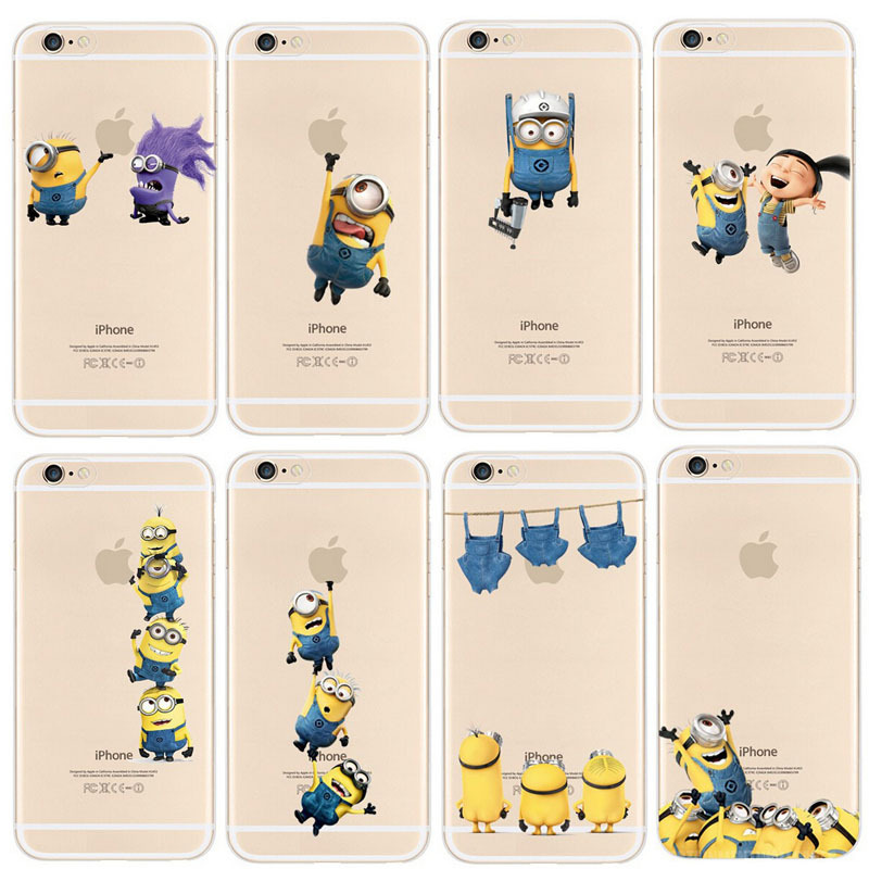Hot Sale Newest Fashion Despicable Me Yellow Minion Design Case cover For iphone 5 5S Mobile