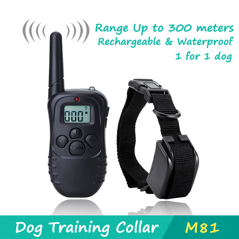 DeeiPet 300 Meters Remote Training Rechargeable Dog Training Collar with LCD Screen for 1 dog,Vibration and Shock Electronic(China (Mainland))