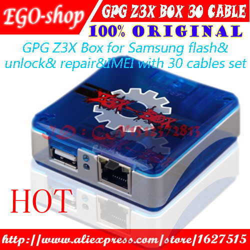free shipping 100% Original GPG Z3X Box Edition Unlock & Flash & Repair For Samsung Cell phones With 30 Cables(China (Mainland))