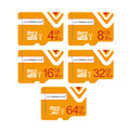 High speed Orange Wansenda tf card 16g 32gb 64gb Class 10 memory card tf 4g 8gb