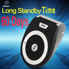Manos Libres Wireless Bluetooth Handsfree Car Kit Speakerphone Sun visor Clip 10m Distance For iPhone with Car Charger T821-1