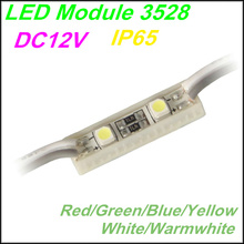 Freeshipping 2 LED Module 3528 SMD Red/Green/Blue/Yellow/white For LED Channel Letter And Advertising LED Sign ,IP65 Waterproof(China (Mainland))