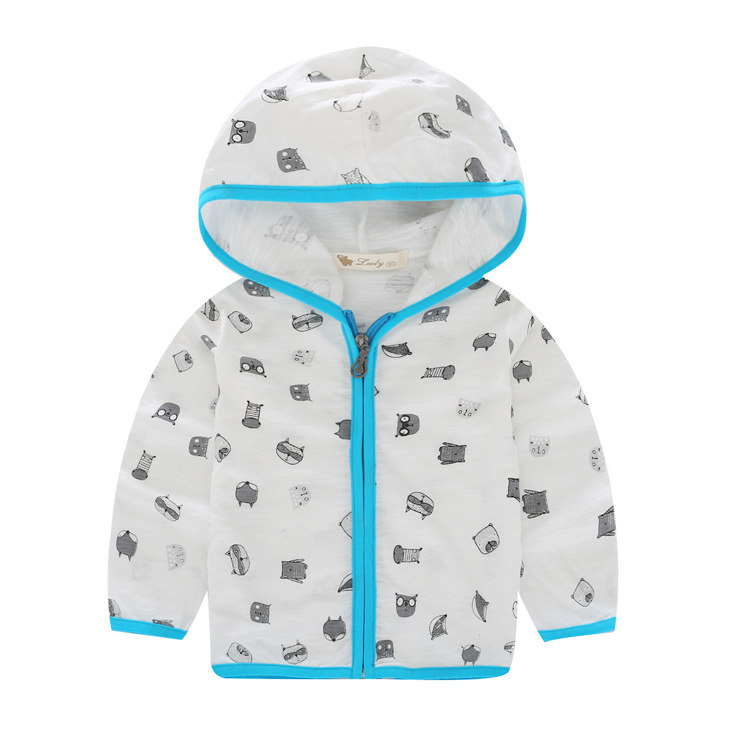 2016 new summer sun protection clothing childrens wear long sleeved cardigan cotton coat childrens wholesale<br><br>Aliexpress