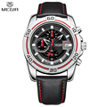 MEGIR Men Chronograph Waterproof Multifunction Sport Analog Digital Quart Watch Genuine Strap Fashion Watches Relogio Masculino
