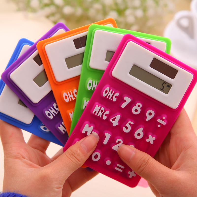 Portable foldable silicone mini 8 digital calculator Solar Energy Soft keyboard Creative Magnetic adsorption(China (Mainland))