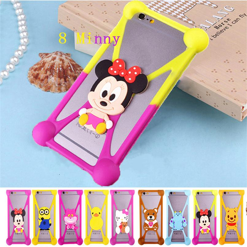 Cute Cartoon Silicone Universal Cell Phone Holster Cases fundas For LG Optimus G E975 F180 E973 F180L Case Silicon coque Cover(China (Mainland))