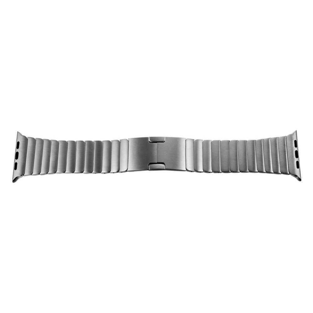 Для Apple Watch Премиум Нержавеющей Стали 316L iWatch Съемный Ремешок Ремешок невидимый Застежка С Адаптером Разъем серебряные Полосы