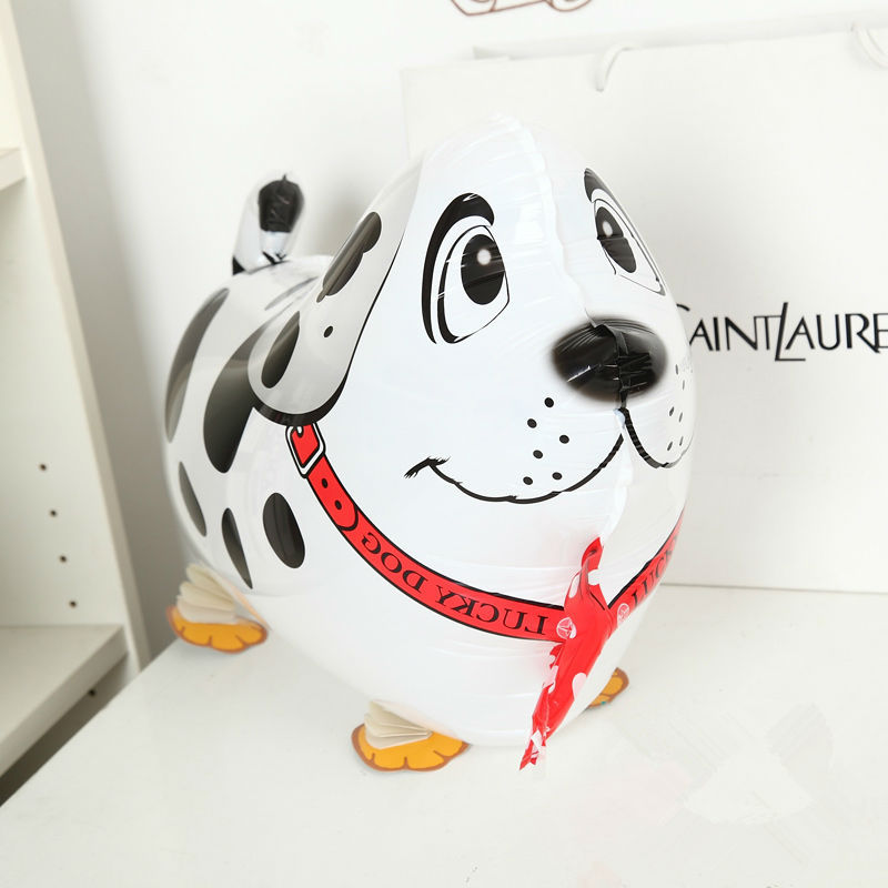 50pcs/Lot, Free Shipping, Dalmatian Pet Walking Animals Balloons Hulium Mylar Balloons, Baby's toy, Party Decoration. Gift.(China (Mainland))