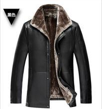 2017 PU Leather Jacket Men Winter Jackets Coats Thickening Wool Windbreak Warm Jaquetas Warm Motorcycle Luxury Fur Sheep Parka(China (Mainland))