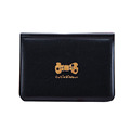 Black PU Cover Passport Credit Card Holder Bags Bowknot Print Visiting Card Wallet Leather Bowkont Purse