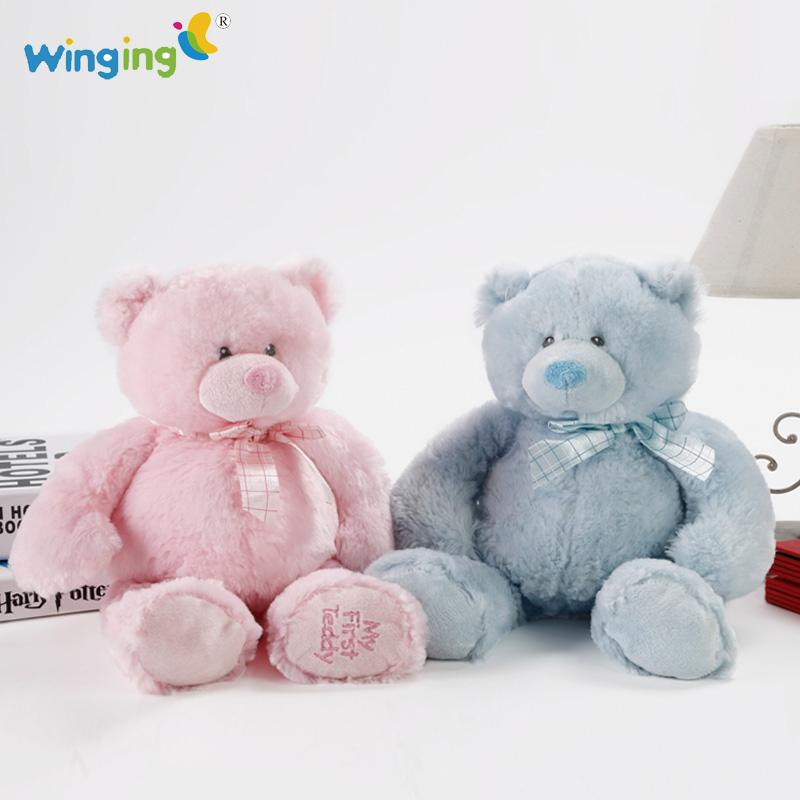 1 Pcs 26cm Teddy Bears Plush Toy Soft Toys Stuffed Animals Fresh Teddy Plush Toy Bear Dolls Pink and Blue Children Gift S610(China (Mainland))