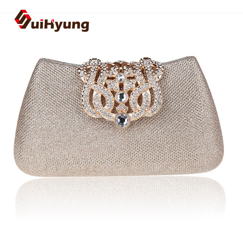 Hot Sale New Womenu0026#39;s Evening Bags Small Clutch Fashion Diamond Crown Wedding Day Clutch Ladies ...