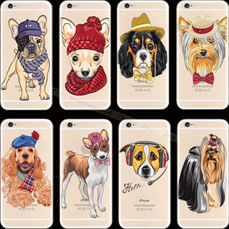 For iPhone 5S SE 25 Pretty Design Painting Dogs Silicon Phone Cover Cases For Apple iPhone 5 iPhone5 iPhone5S Case Shell Best(China (Mainland))