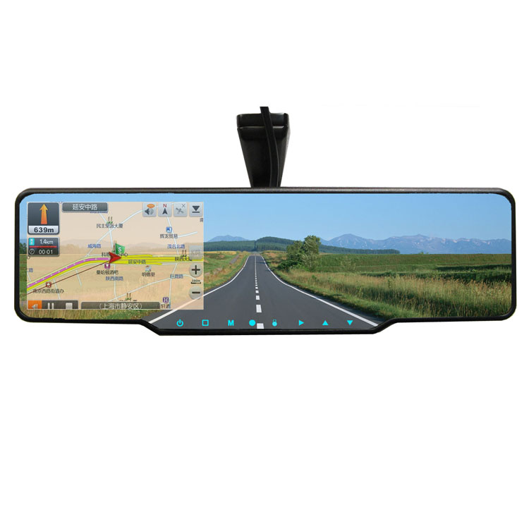 "4.3""GPS Navigation Driving image recording/radar,early warning & parking imaging systems,Bluetooth reversing rearview mirror"