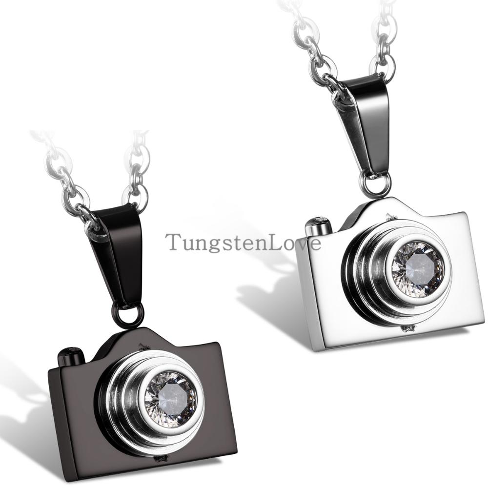2015 New Fashion Jewelry Camera Necklaces Pendants Hot Sale Black / Silver Colors Lovely Stainless Steel Fashion Designer Bijoux(China (Mainland))