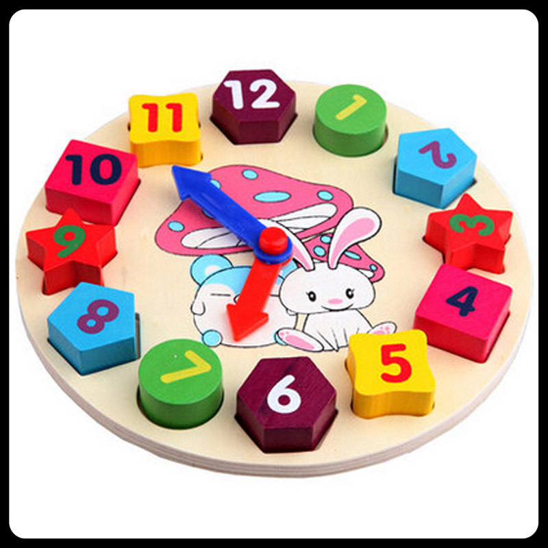 Early Childhood Educational Toys : Free shipping child baby blocks digital clock educational