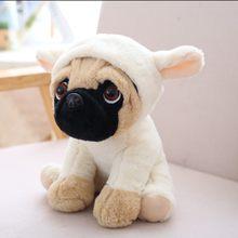 20 CM Recheado Sharpei Simulação Cães de Pelúcia Pug Adorável Filhote de Cachorro do animal de Estimação Animal De Brinquedo de Pelúcia Brinquedo Das Crianças Das Crianças Presentes de Natal Aniversário(China)