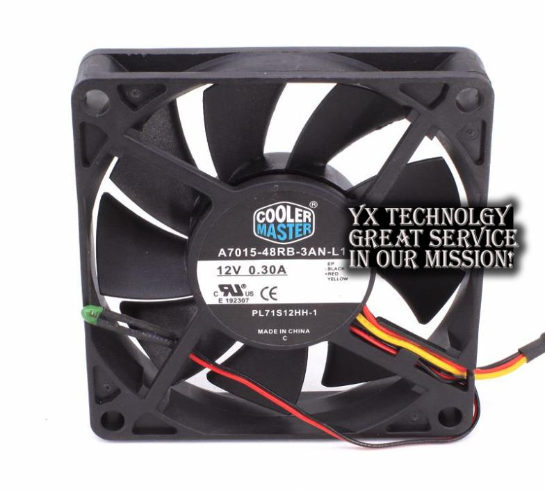 New PL71S12HH-1 12v 0.3a 7CM 7015 ultra-quiet fan applicable original Cooler for CoolerMaster 70*70*15mm(China (Mainland))