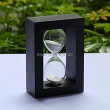 Hot Selling sand clock wooden gifts sandglass 30 minute hourglass dining time girls gift home decoration(China (Mainland))