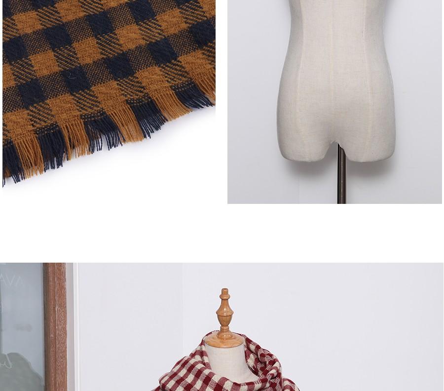 Ladybro High Quality Women Scarf Luxury Brand Za Checkered Winter Knit Scarf Female Poncho Plaid 2017 Pink Large Foulard Femme