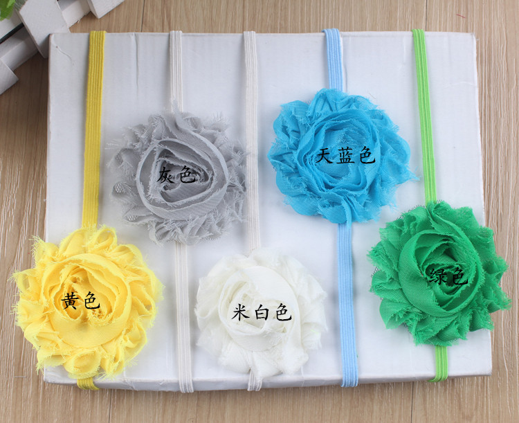 New Design Baby Head Band With Colorful Flower Baby Elastic Headband Baby Colorful Flower Headwear Hair Accessory Free Shipping(China (Mainland))