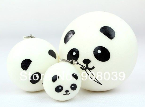 Free shipping 6cm bread strap sweet-smelling Squishies cell phone Straps, Panda Dim Sum Bun ,Squishy Bag Charm Gift