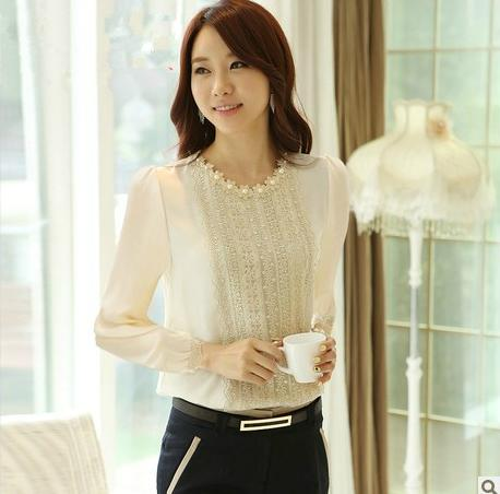 comfortable autumn fashion long-sleeved women chiffon han edition render unlined upper garment - Express shopping store