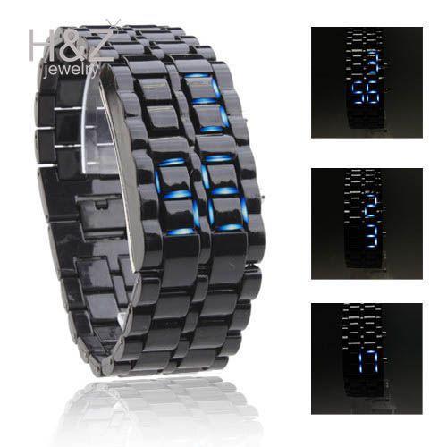 Iron Samurai LED Digital Stainless Steel Sports wrist Watches Men Women sci-fi Lava bracelet Watch multicolor - H&Z Fashion Shop store