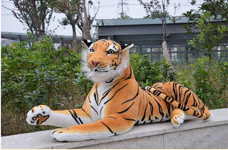 big lovely simulaiton tiger toy yellow tiger toy large plush lying yellow tiger doll gift about 120cm a0176(China (Mainland))