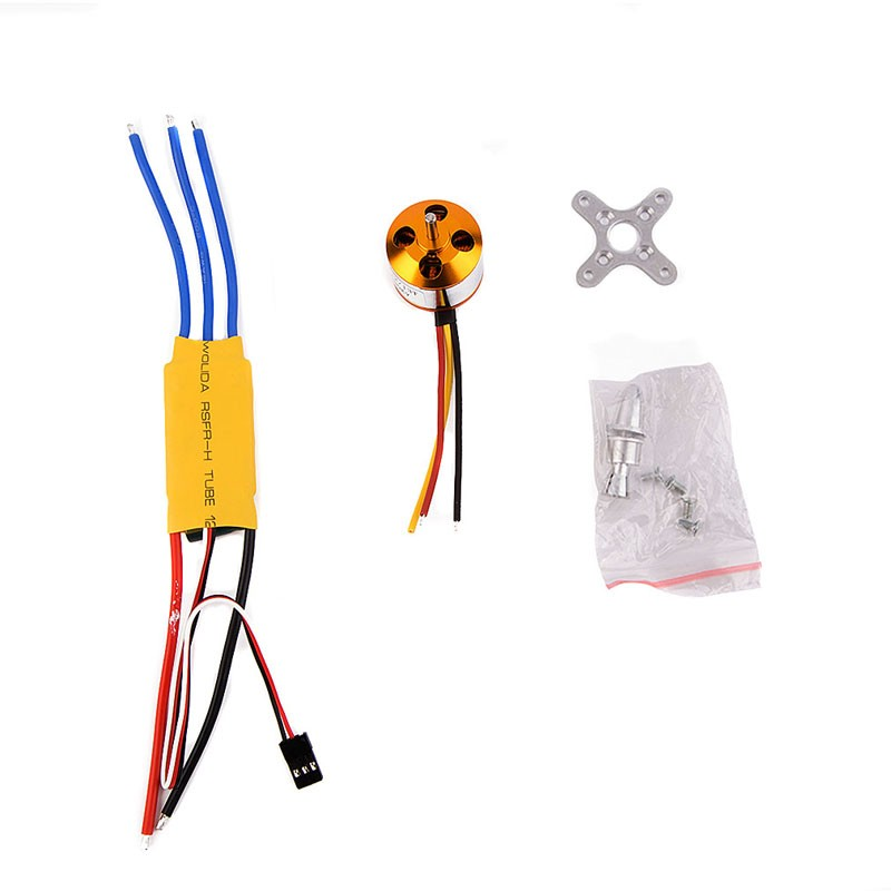 Original A2212 1000KV Brushless Motor With 30A Brushless ESC For DJI F450 F550 RC Drone Quadcopter Parts VEG62 T16 0.5
