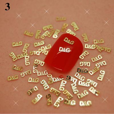 T3 800pcs/lot Gold Nail Art Metal Sticker Nail Art Craft Cellphone Decorations Decor(China (Mainland))