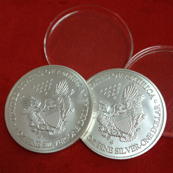 Free shipping 1pcs/lot Matte Effect American Eagle silver coins 999 pure fine silver clad bullion coins year 1996(China (Mainland))
