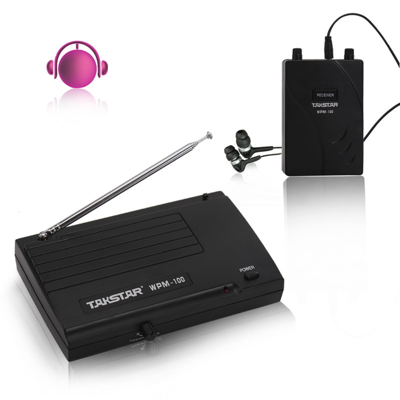 2015 Takstar WPM-100 Wireless Monitor System Stereo In-Ear Wireless Headphones & Earbuds wireless earphone+Transmitter+Receiver(China (Mainland))