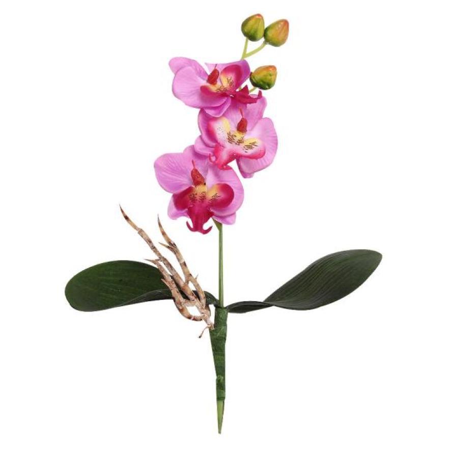 Triple Head Artificial Butterfly Orchid Silk Flower Home Wedding Decor Artificial flowers jan26