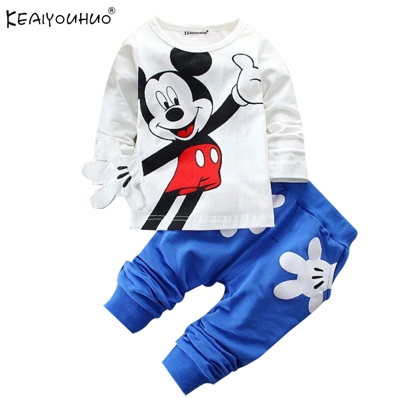 KEAIYOUHUO Hot Baby Clothes Boys Sport Suit Cotton Spring Kids Clothing Sets Fashion Long Sleeve Clothes For Girls Children Sets(China (Mainland))