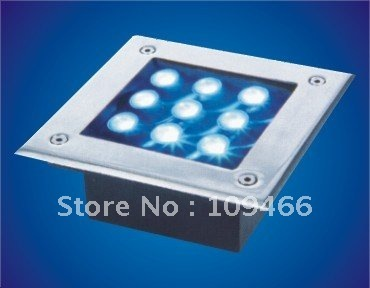 Wholesale high power IP65 9W led underground lamp outdoor lightings free shipping