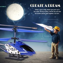 3.5 CH Infrared Mini Remote Control RC Helicopter Drone Gyro Blue 66